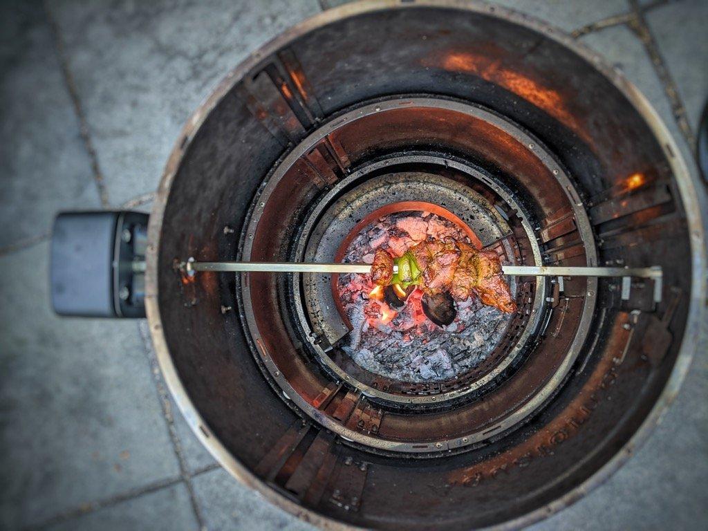 Lamb Kebabs on the Rotisserie