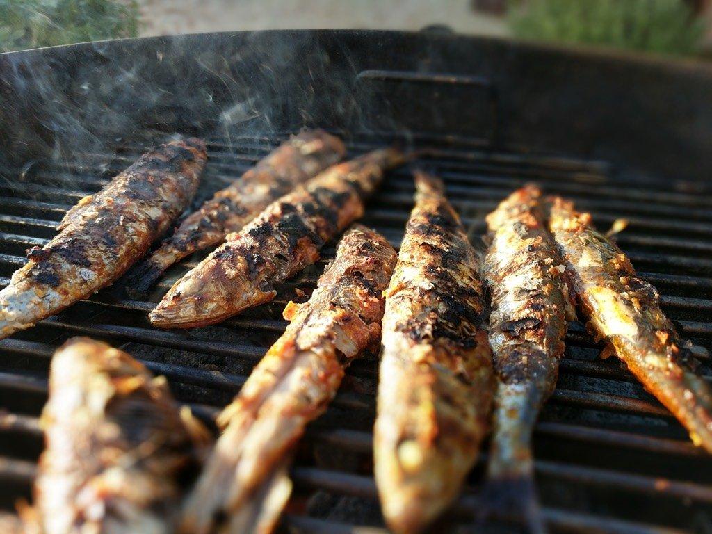 Sardines Cooking